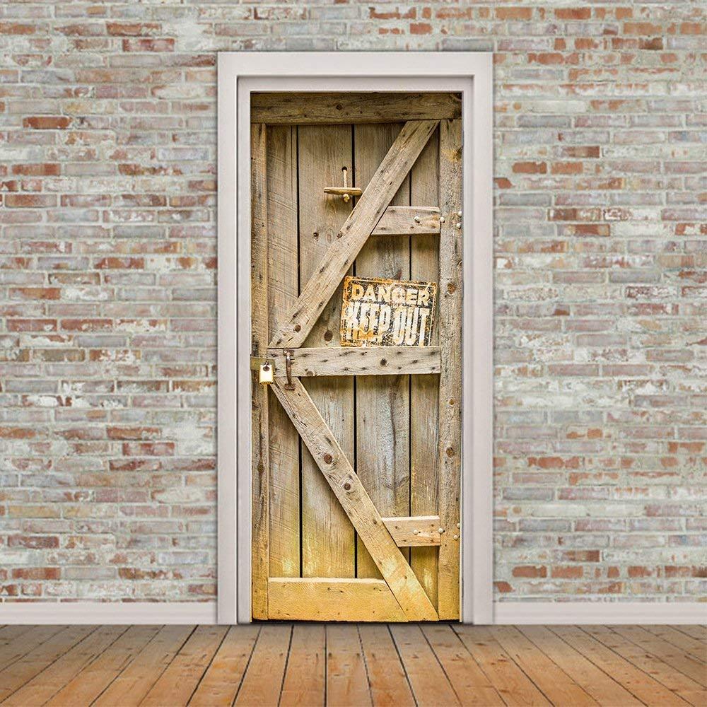 Fymural Danger Keep Out Door Wall Mural - Door Art , HD Wallpaper & Backgrounds