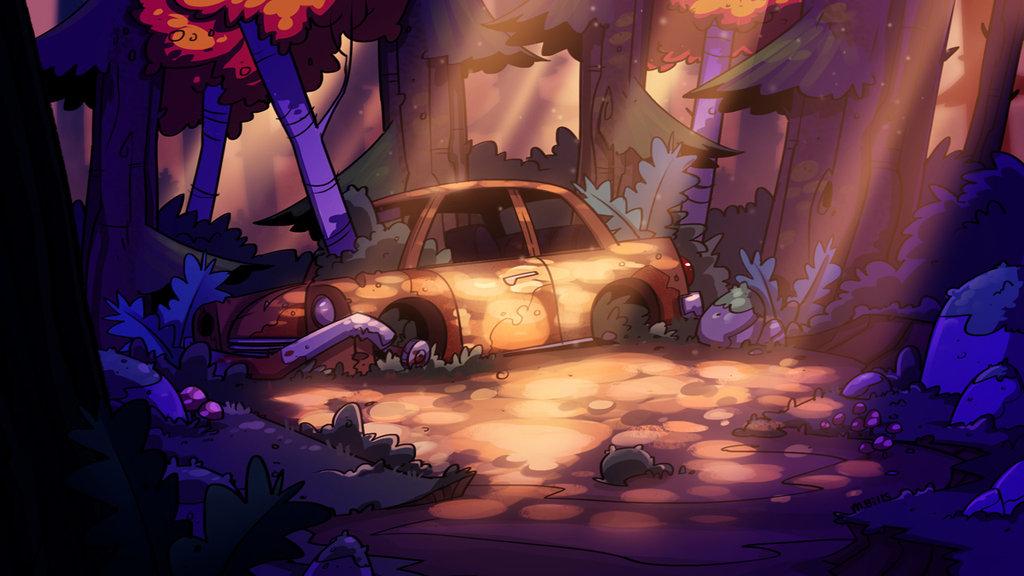 Gravity Falls Background Art Hd , HD Wallpaper & Backgrounds