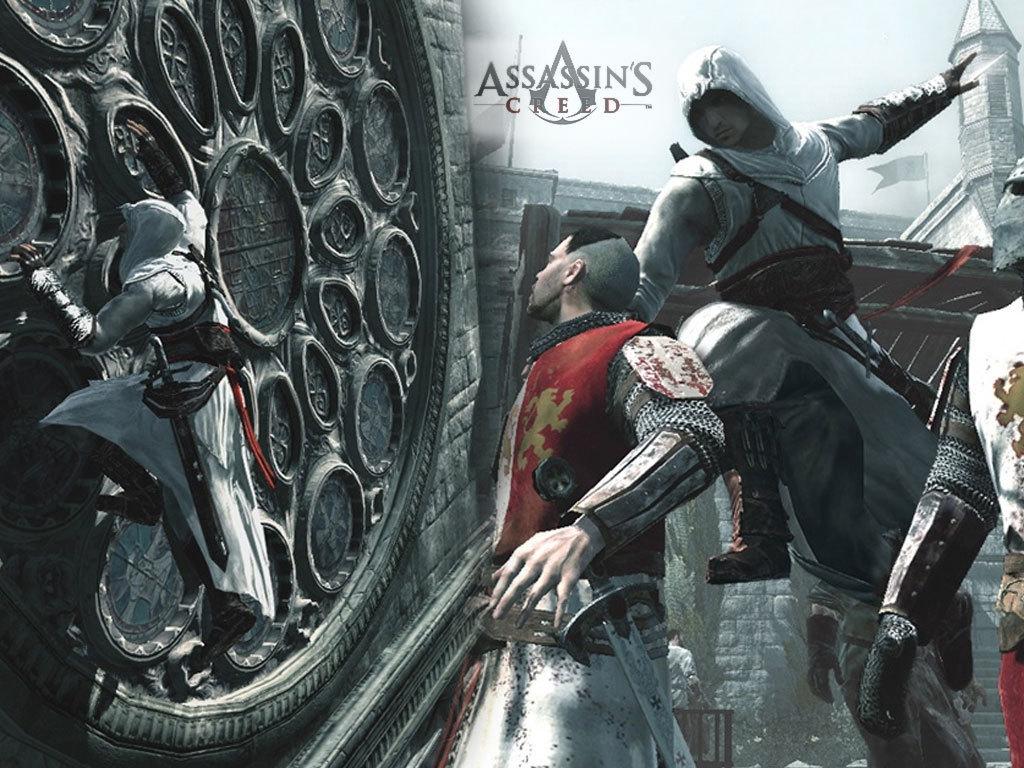 Assassins Creed Wallpaper - Altair Killing A Templar , HD Wallpaper & Backgrounds