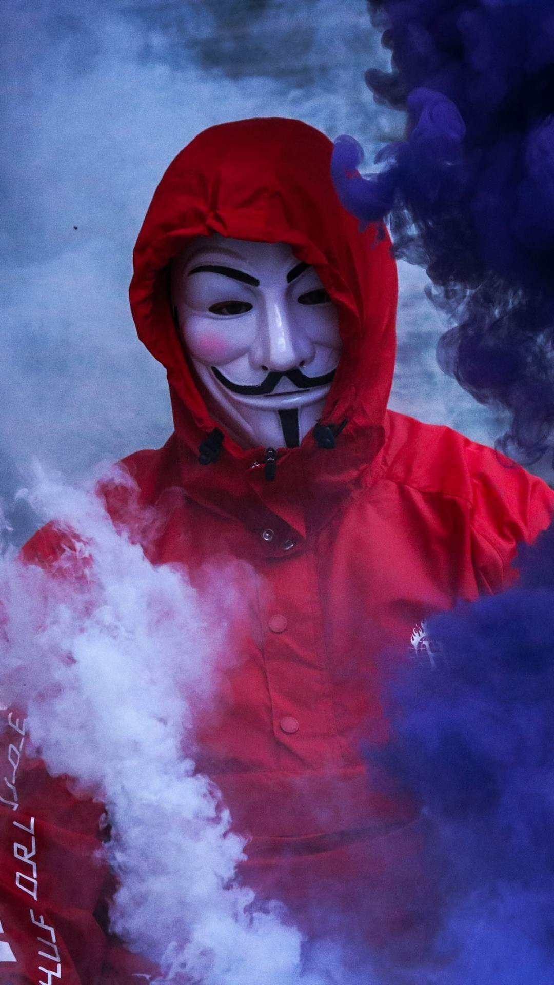 Guy Fawkes Mask Anonymous Smoke Red Hoodie Iphone 6 Smoke Wallpaper Hd 2416014 Hd Wallpaper Backgrounds Download