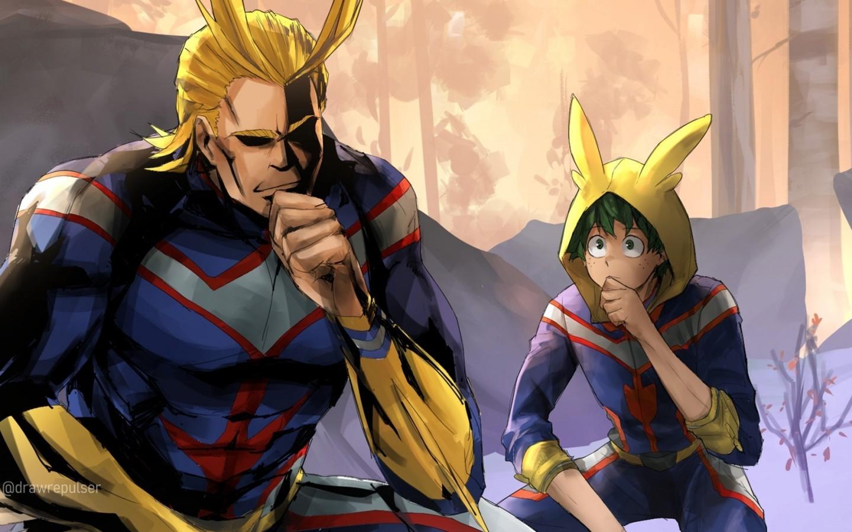 Boku No Hero Academia All Might Midoriya Izuku All Might And