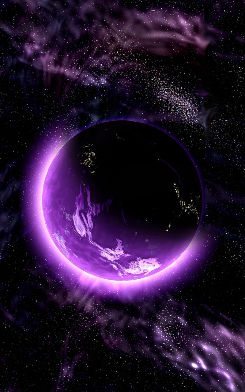 Wallpaper Planet Space Universe Galaxy Purple Galaxy Wallpaper Iphone Purple 2417668 Hd Wallpaper Backgrounds Download
