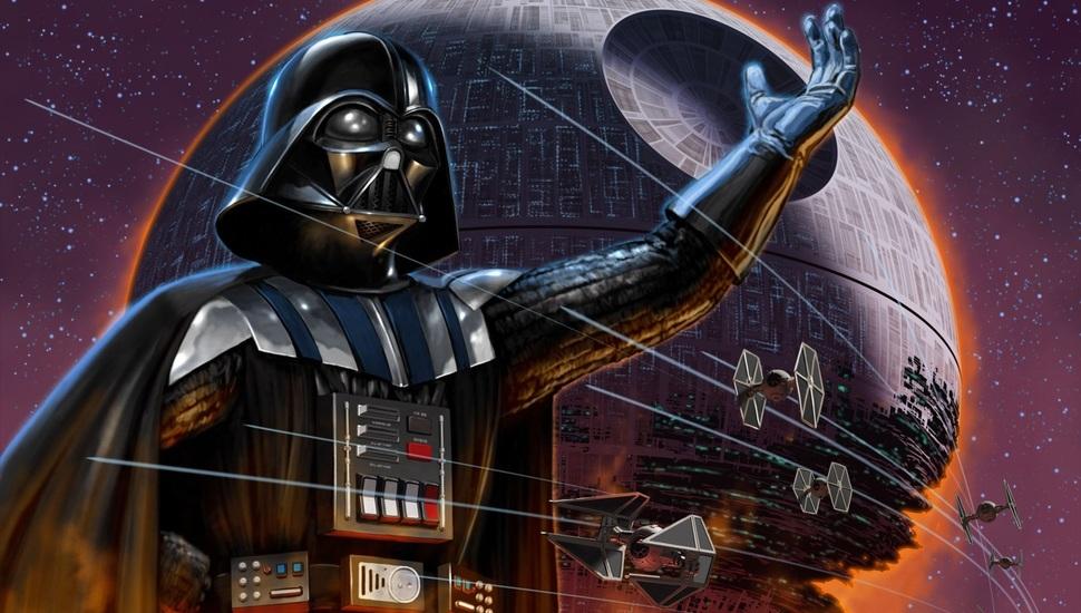 The Death Star, Darth Vader, Star Wars, Star Wars Desktop - Darth Vader And The Death Star , HD Wallpaper & Backgrounds