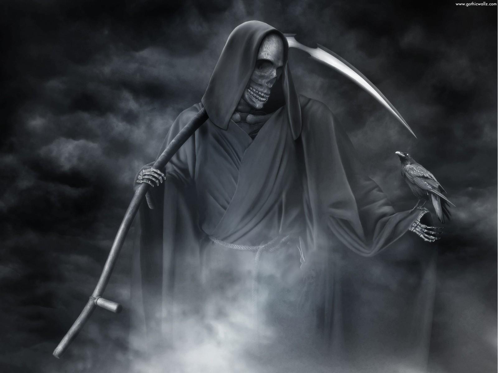 Http - //2 - Bp - Blogspot - Com/ Reaper With Crow%2b%2528www - Grim Reaper , HD Wallpaper & Backgrounds