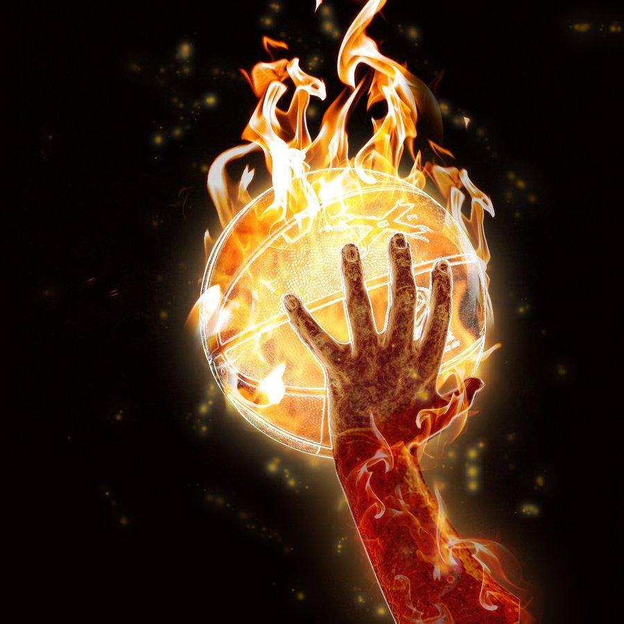 Shooting Basketball On Fire 2431258 Hd Wallpaper