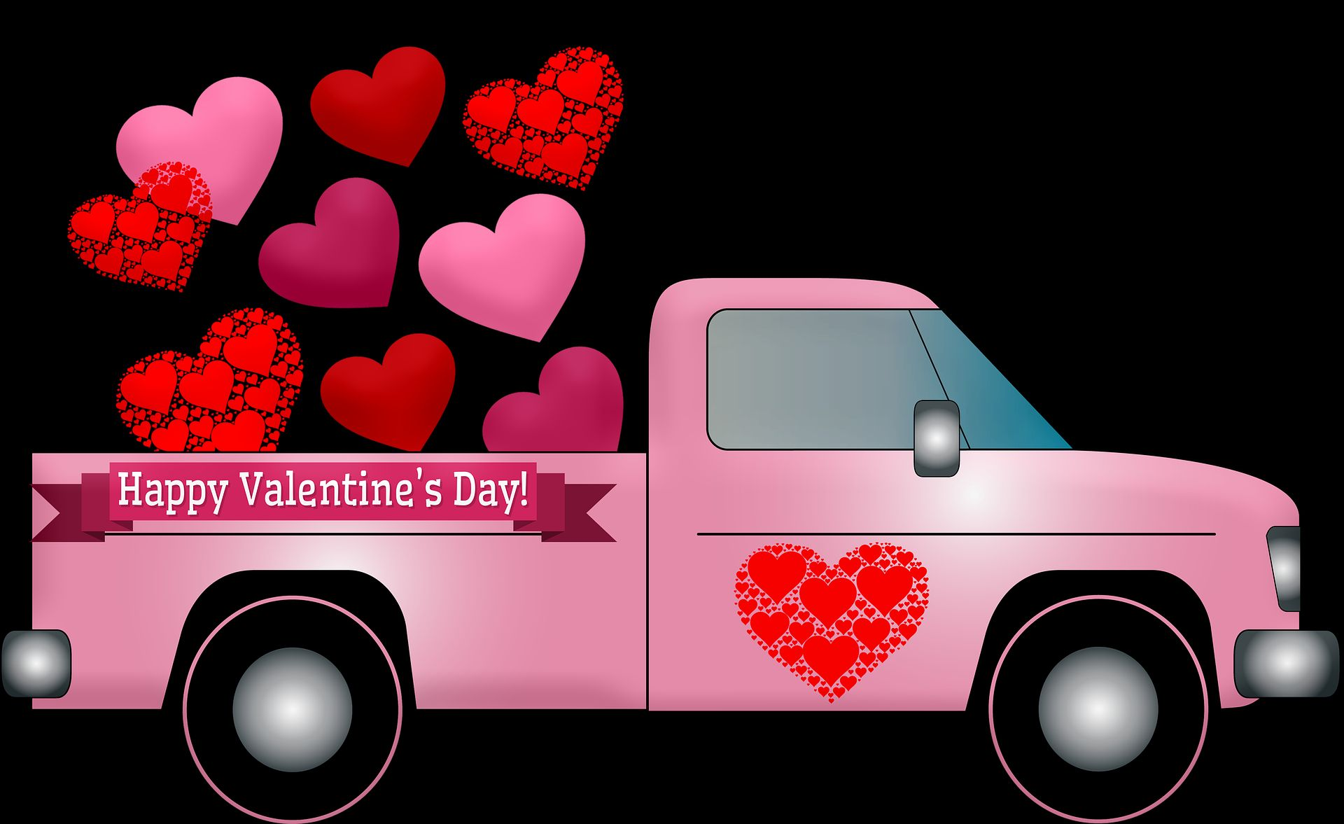 Cute Happy Valentines Day 2019 Special Truck Wallpaper - Happy Valentine Day Quotations , HD Wallpaper & Backgrounds