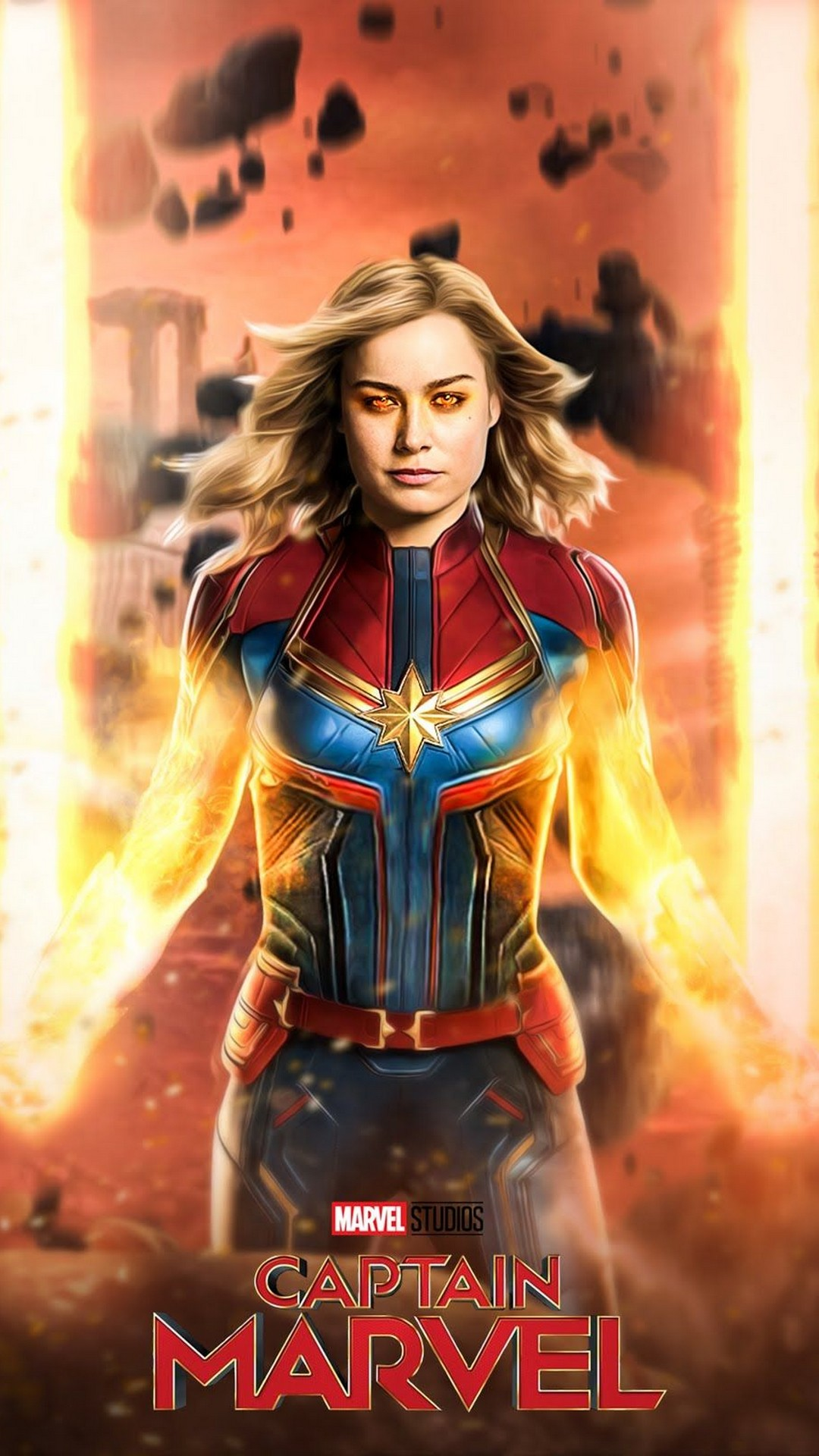 Captain Marvel 2019 Iphone 6 Wallpaper With High-resolution - 6 Captain Marvel 2019 , HD Wallpaper & Backgrounds