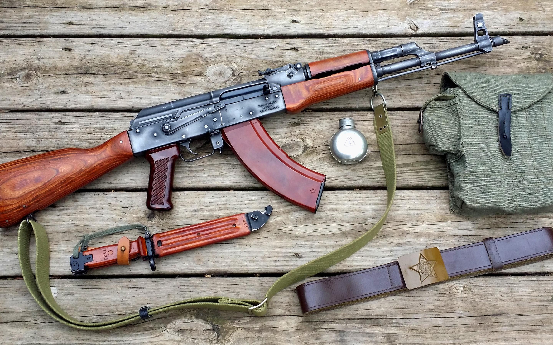 Wallpaper Ak-47 Gun, Bag, Knife, Weapon - Ak-47 , HD Wallpaper & Backgrounds