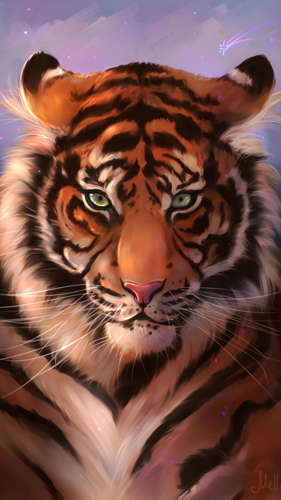 Wallpaper Tiger Muzzle Art Predator Striped Iphone 6 Tiger Art 2439114 Hd Wallpaper Backgrounds Download