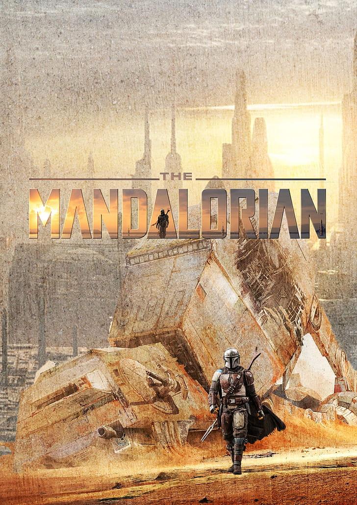 Star Wars Mandalorian Artwork , HD Wallpaper & Backgrounds
