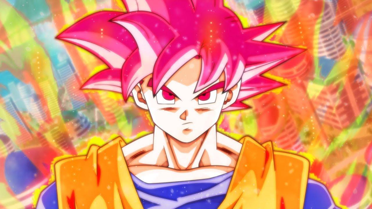 Goku Super Saiyan God Background 2442540 Hd Wallpaper