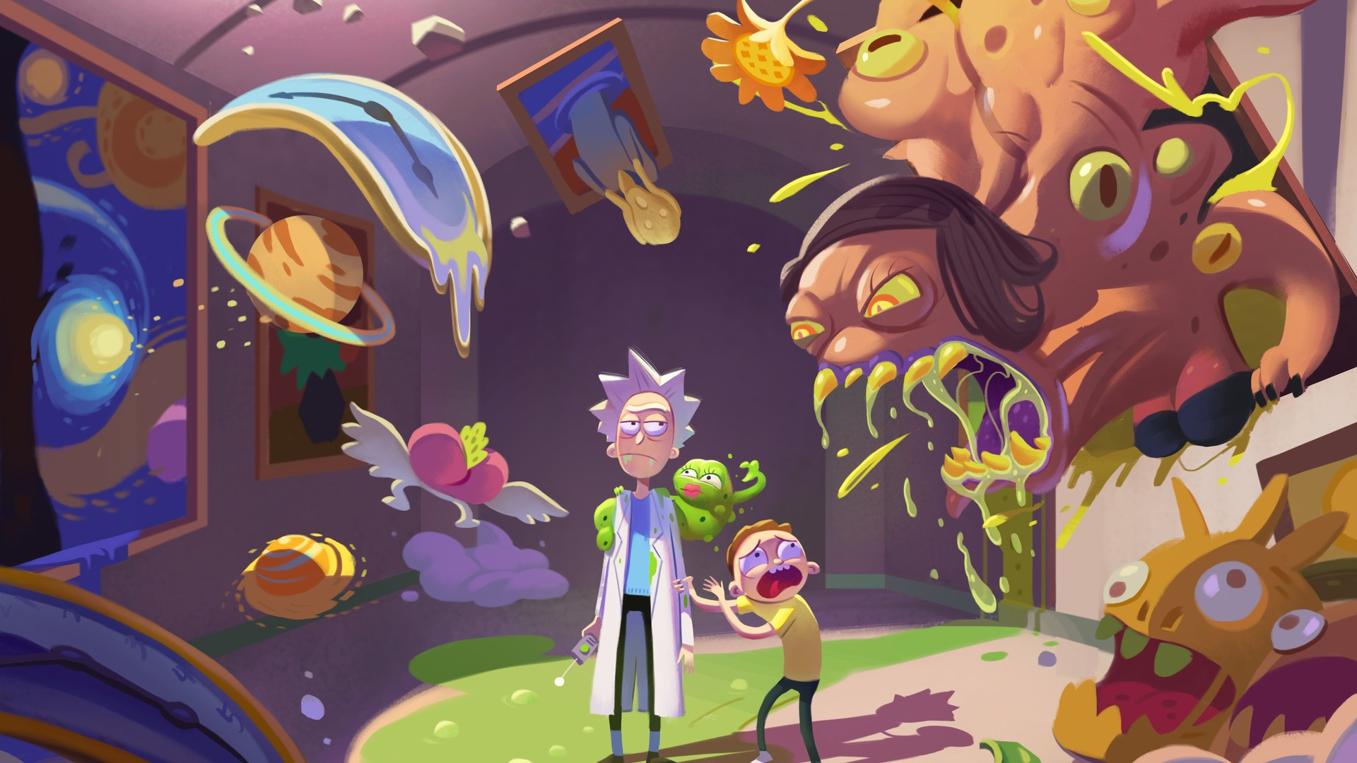 Rick And Morty Desktop Wallpapers With High-resolution - Rick And Morty Wallpaper 4k , HD Wallpaper & Backgrounds