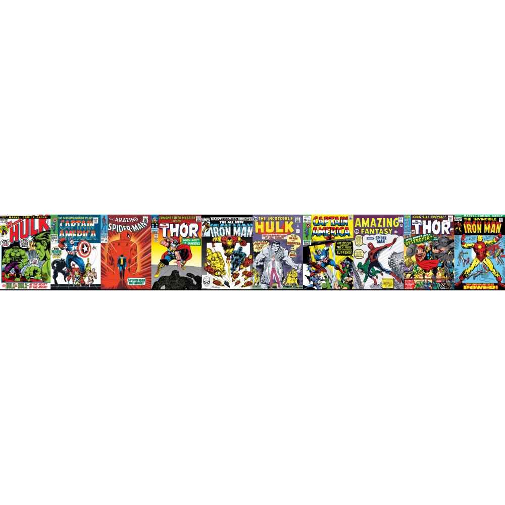 York Dy0274bd Disney Kids Iii Marvel Comic Book Covers - Marvel Border , HD Wallpaper & Backgrounds