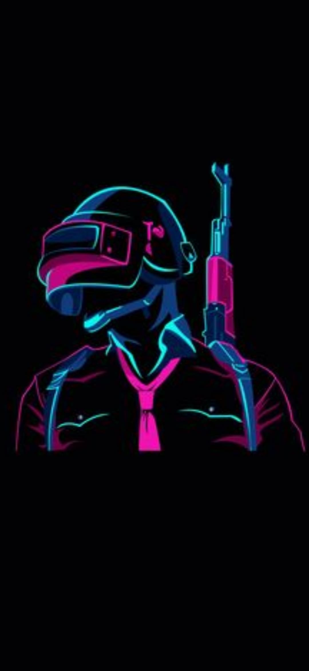 Pubg Latest Wallpaper Gambar Line Art Neon HD