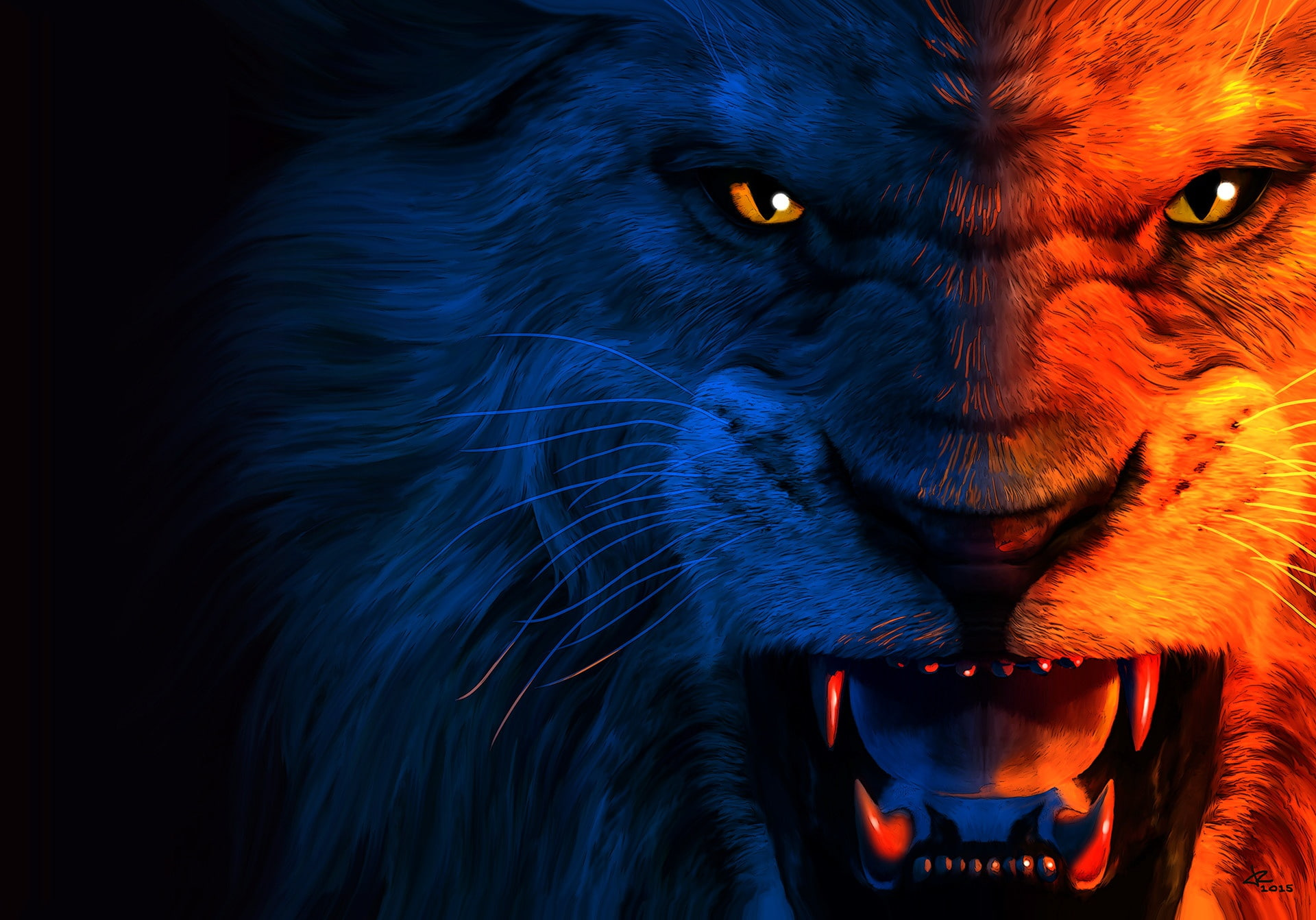 Angry Lion Wallpaper 4k , HD Wallpaper & Backgrounds