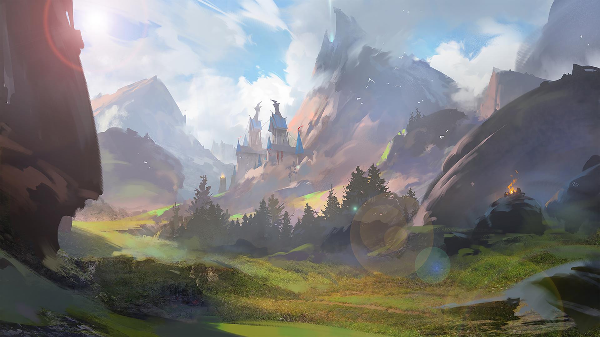Fantasy Landscape , HD Wallpaper & Backgrounds