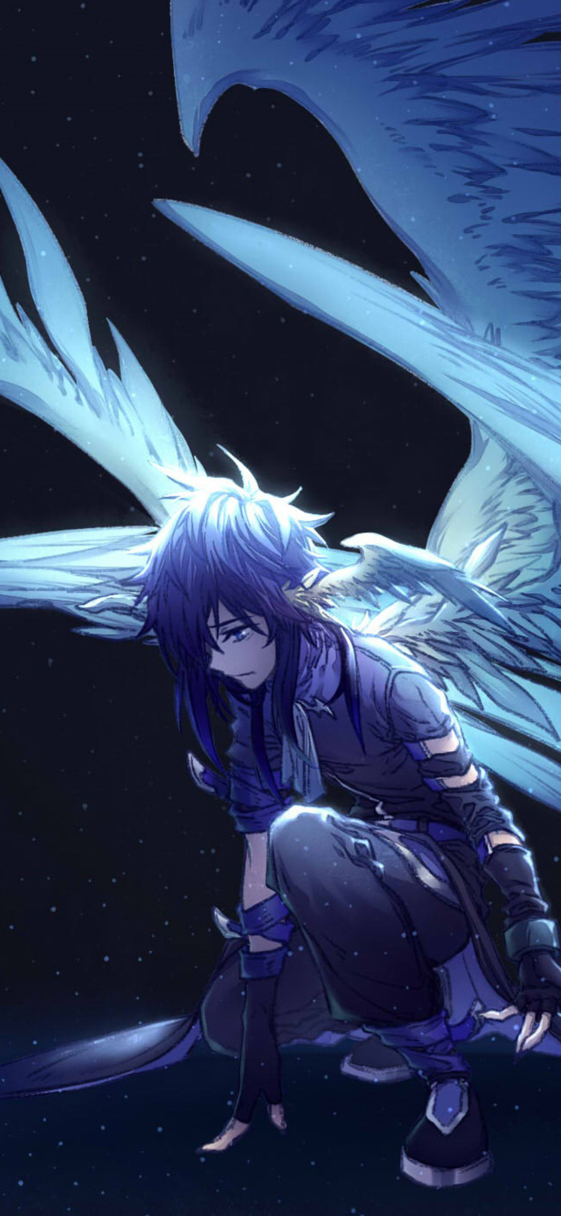 Angel Anime   Data Src Gorgerous Angel Iphone Wallpaper - Iphone Wallpaper Sad Anime , HD Wallpaper & Backgrounds