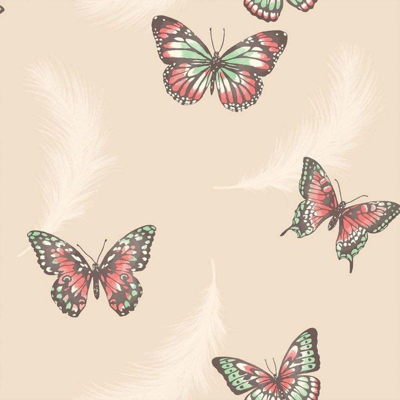 Pink Butterfly Wallpaper For Girls Bedroom , HD Wallpaper & Backgrounds