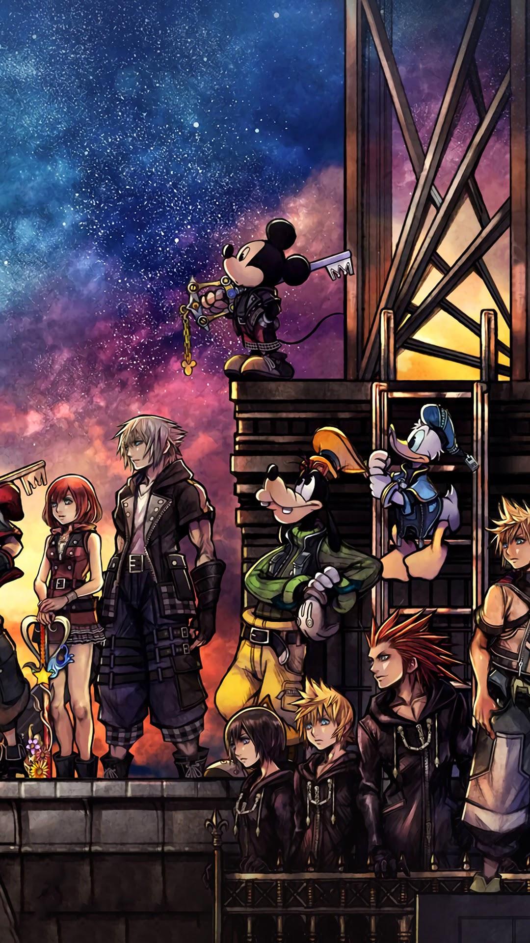 Kingdom Hearts 3, Characters Iphone 10,7,6s,6 Hd Wallpapers, - Kingdom Hearts Rts , HD Wallpaper & Backgrounds