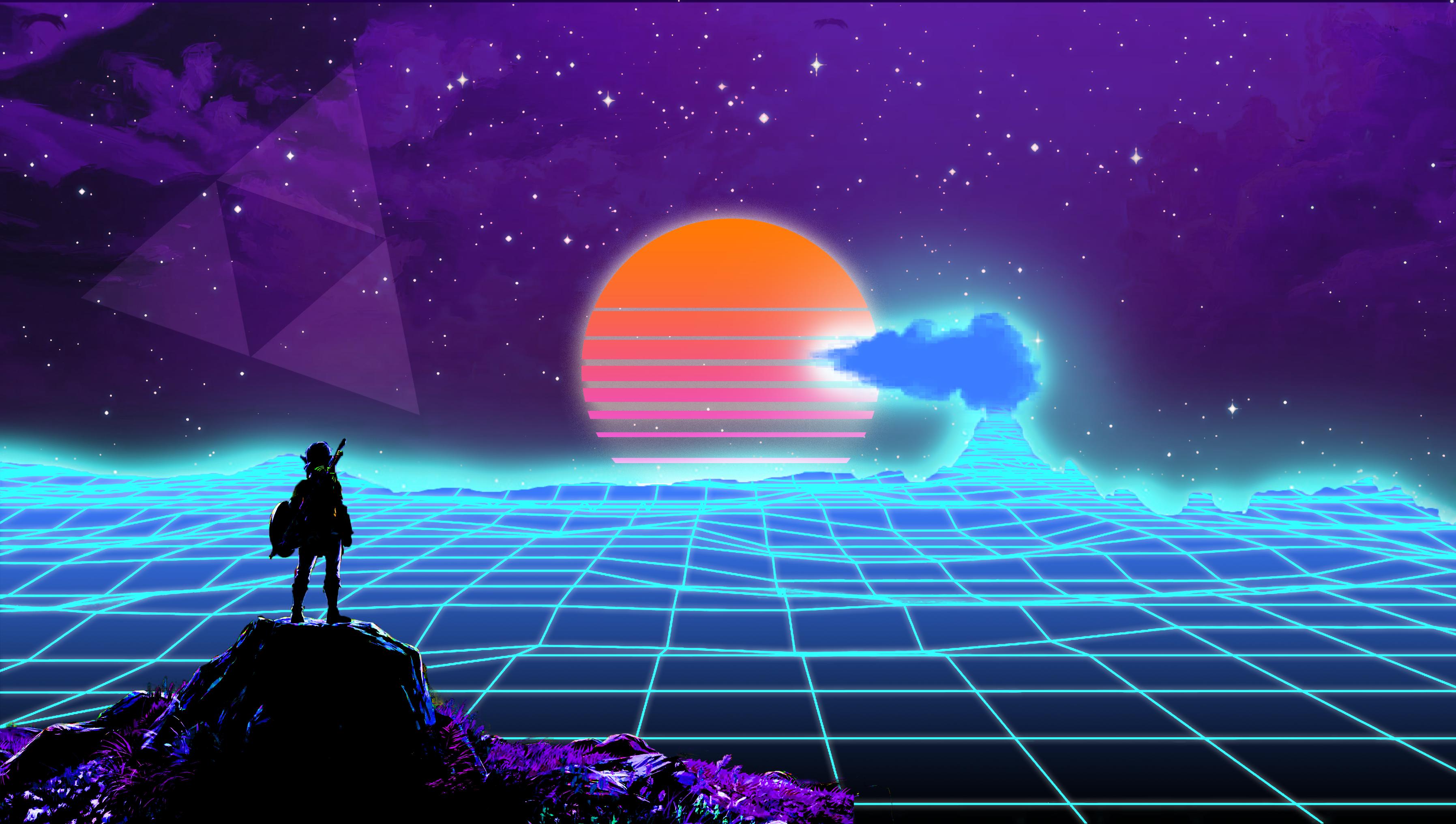 Zelda Background Png Legend Of Zelda Vaporwave 2496946 Hd Wallpaper Backgrounds Download