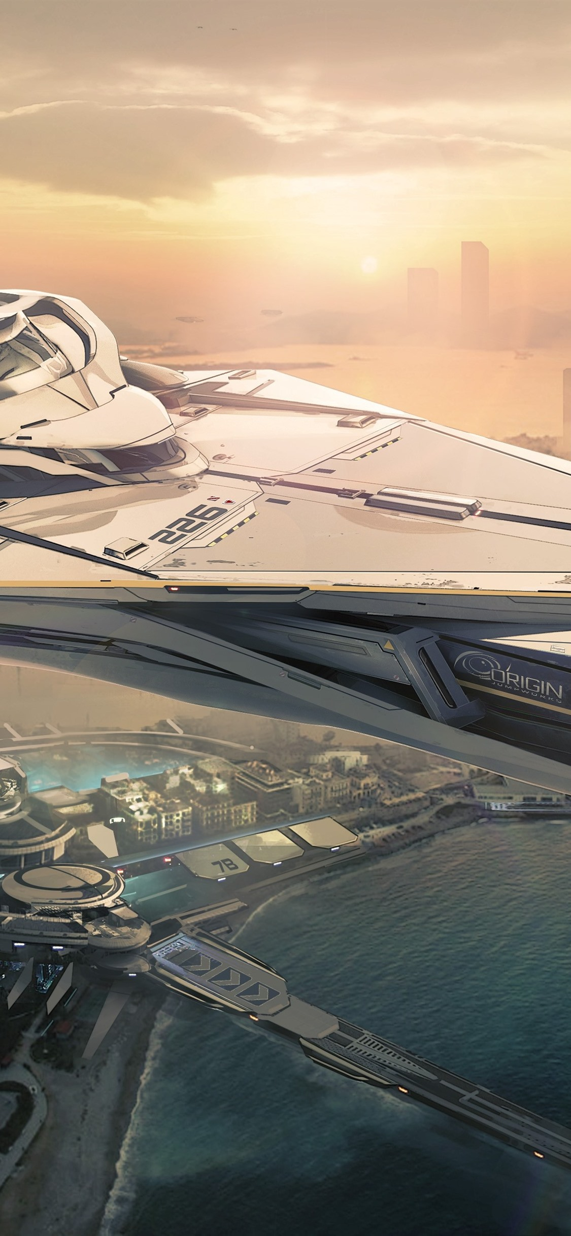 Iphone Wallpaper Star Citizen, Future City, Spaceship - Star Citizen 890 Jump , HD Wallpaper & Backgrounds