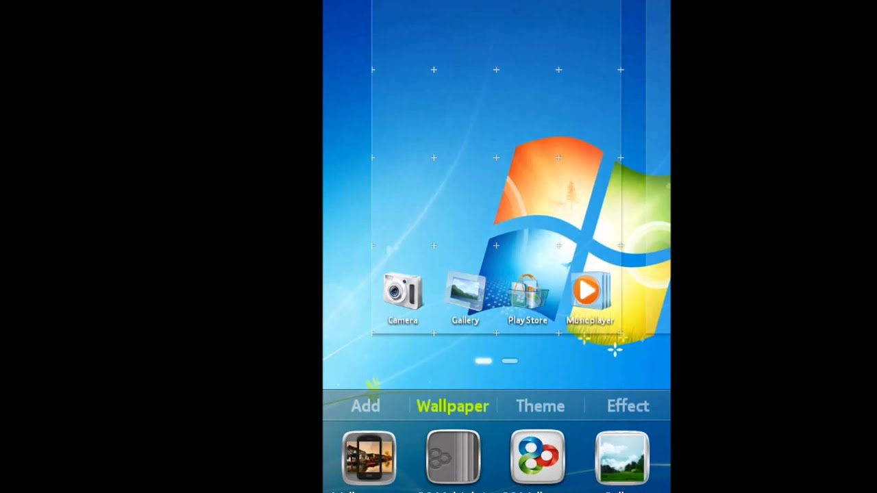 Windows 7 Go Launcher Ex Theme For Android Tema Windows 7