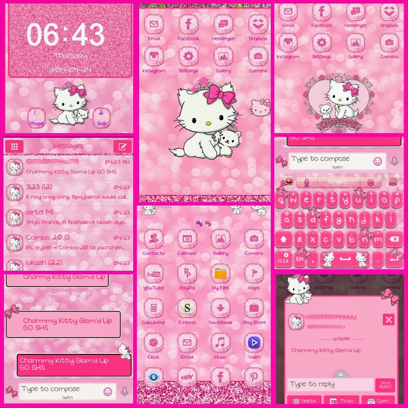 Charmmy Kitty Glam'd Up Go Launcher Theme, Go Sms Theme, - Go Keyboard Pro Themes , HD Wallpaper & Backgrounds
