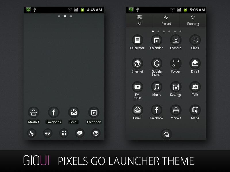 Go Launcher Theme Android 360 Pixels Go Launcher Theme - Pixel Launcher Dark Theme , HD Wallpaper & Backgrounds