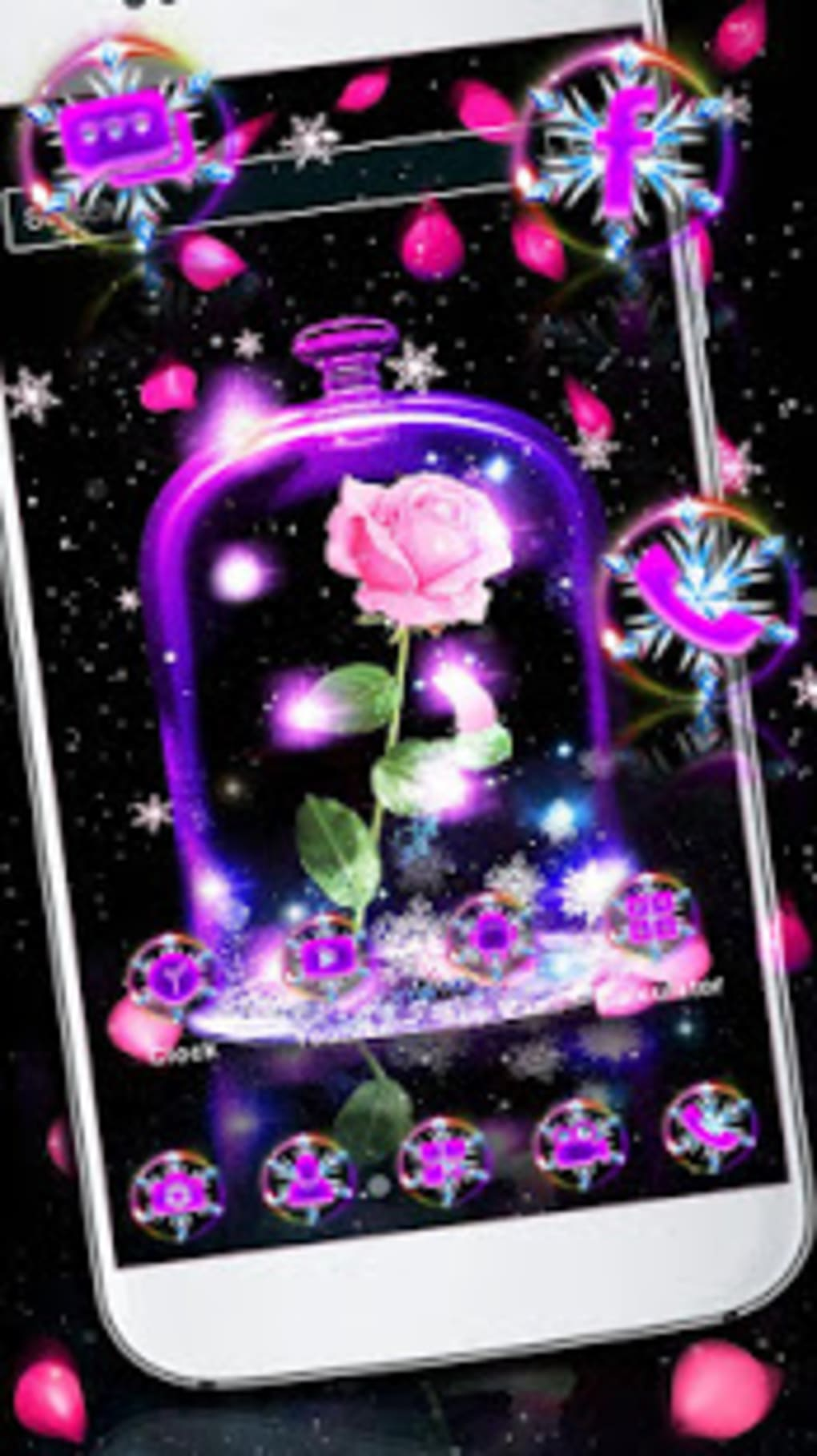 Galaxy Rose Launcher Theme Live Hd Wallpapers - Christmas Lights , HD Wallpaper & Backgrounds