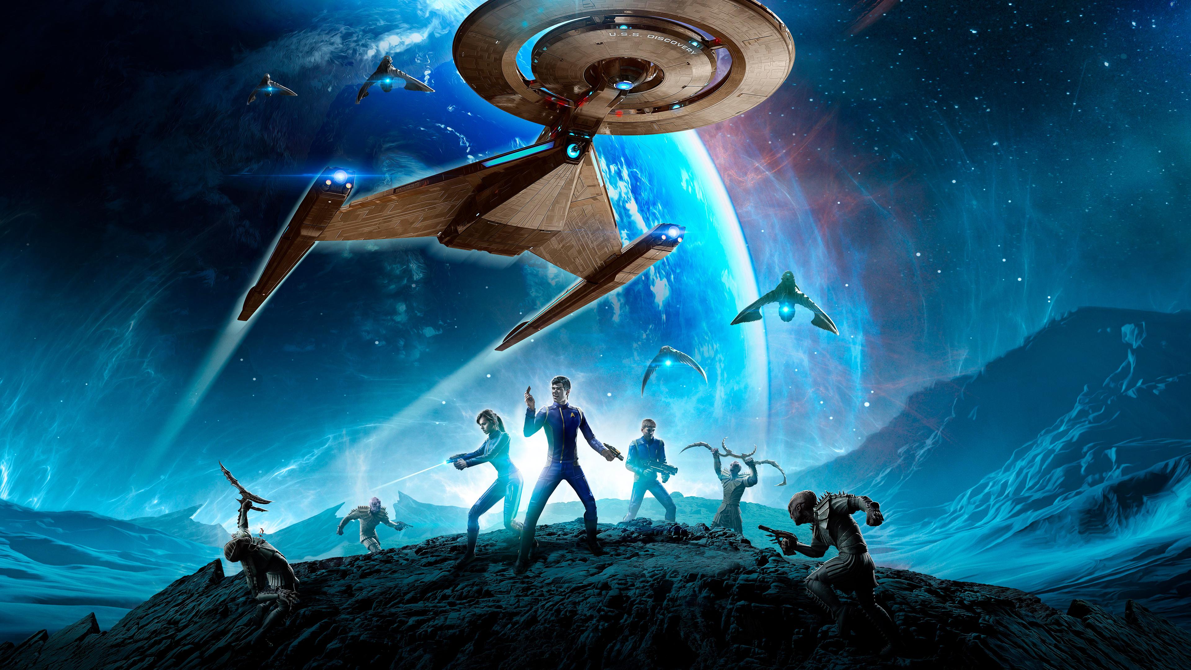 Wallpaper 4k Star Trek Online Video Game 4k Wallpapers - Star Trek Online Mirror Of Discovery , HD Wallpaper & Backgrounds