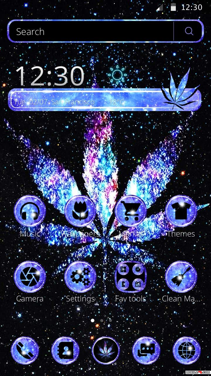 Shiny Galaxy Weed Launcher Theme - Poster , HD Wallpaper & Backgrounds