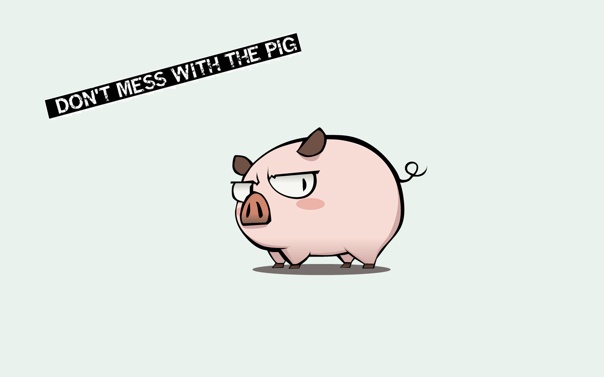Dont Mess With The Pig 256888 Hd Wallpaper