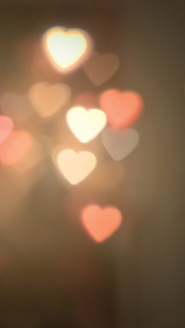 Heart Shaped Lights Iphone 5 Wallpaper - Quotes Wallpapers For Desktop , HD Wallpaper & Backgrounds