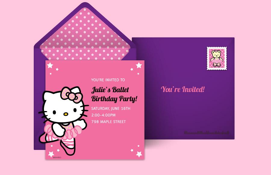 Plan A Hello Kitty Ballet Party Hello Kitty Theme