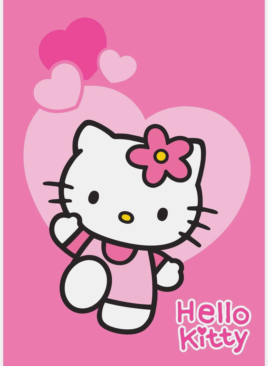 Hello Kitty Tapis Love Rose Hello Kitty Pink Love