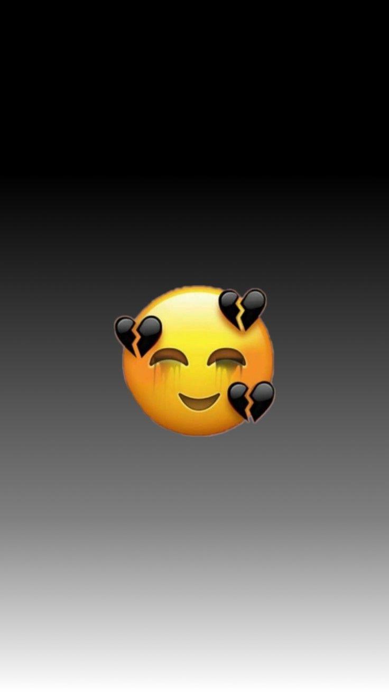 250 2500410 emoji iphone patah hati latar hitam