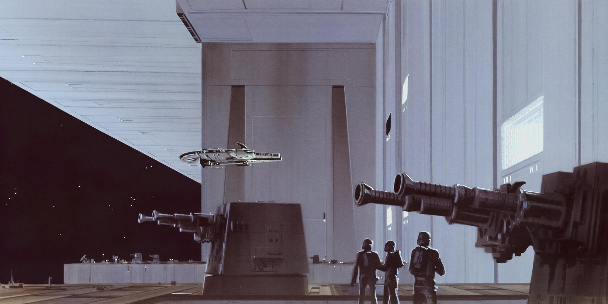 Star Wars Classic Rmq Death Star Hangar   Title Star - Star Wars Concept Art , HD Wallpaper & Backgrounds