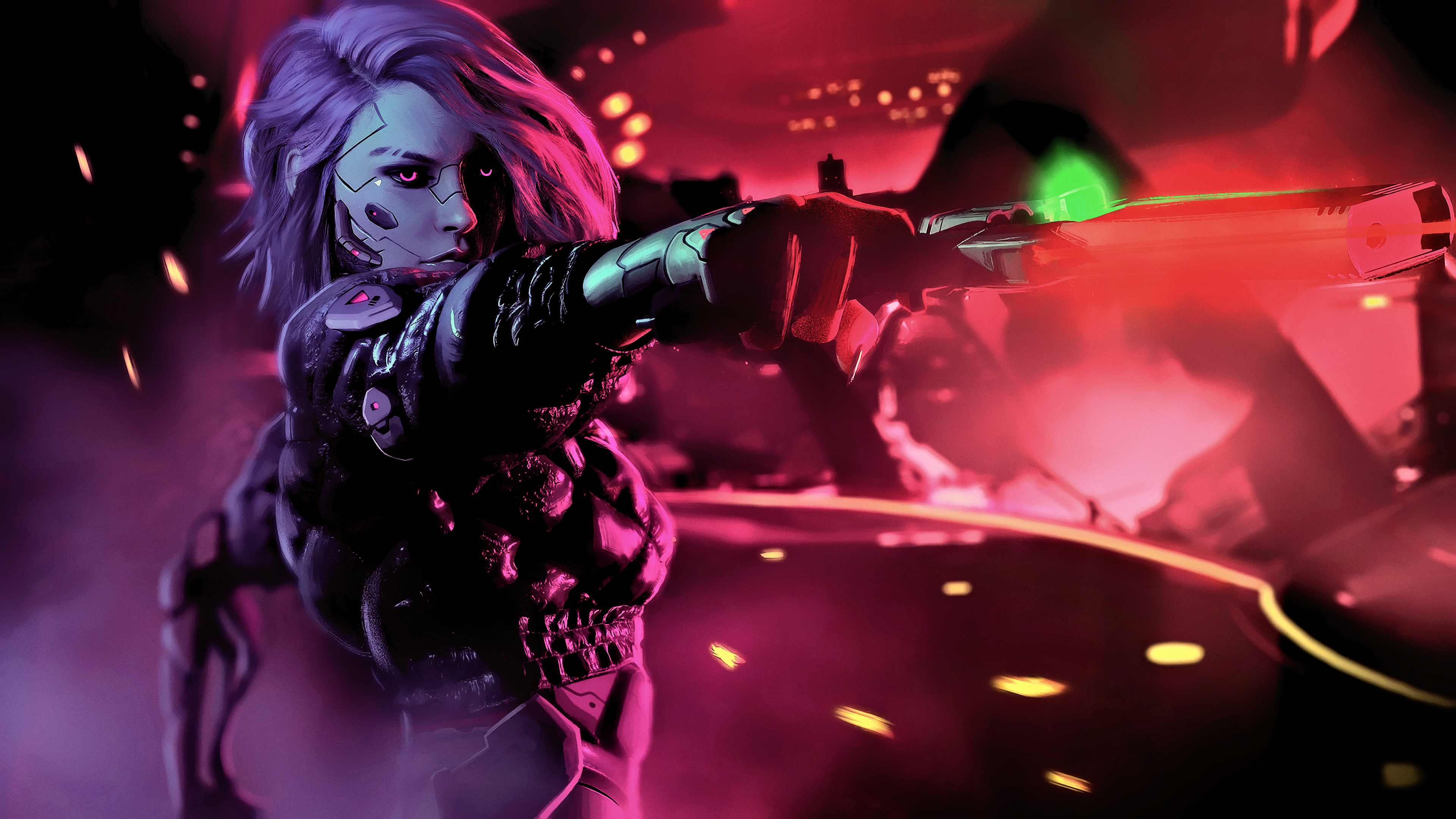 Cyberpunk Girl Wallpaper 4k 2501709 Hd Wallpaper Backgrounds Download
