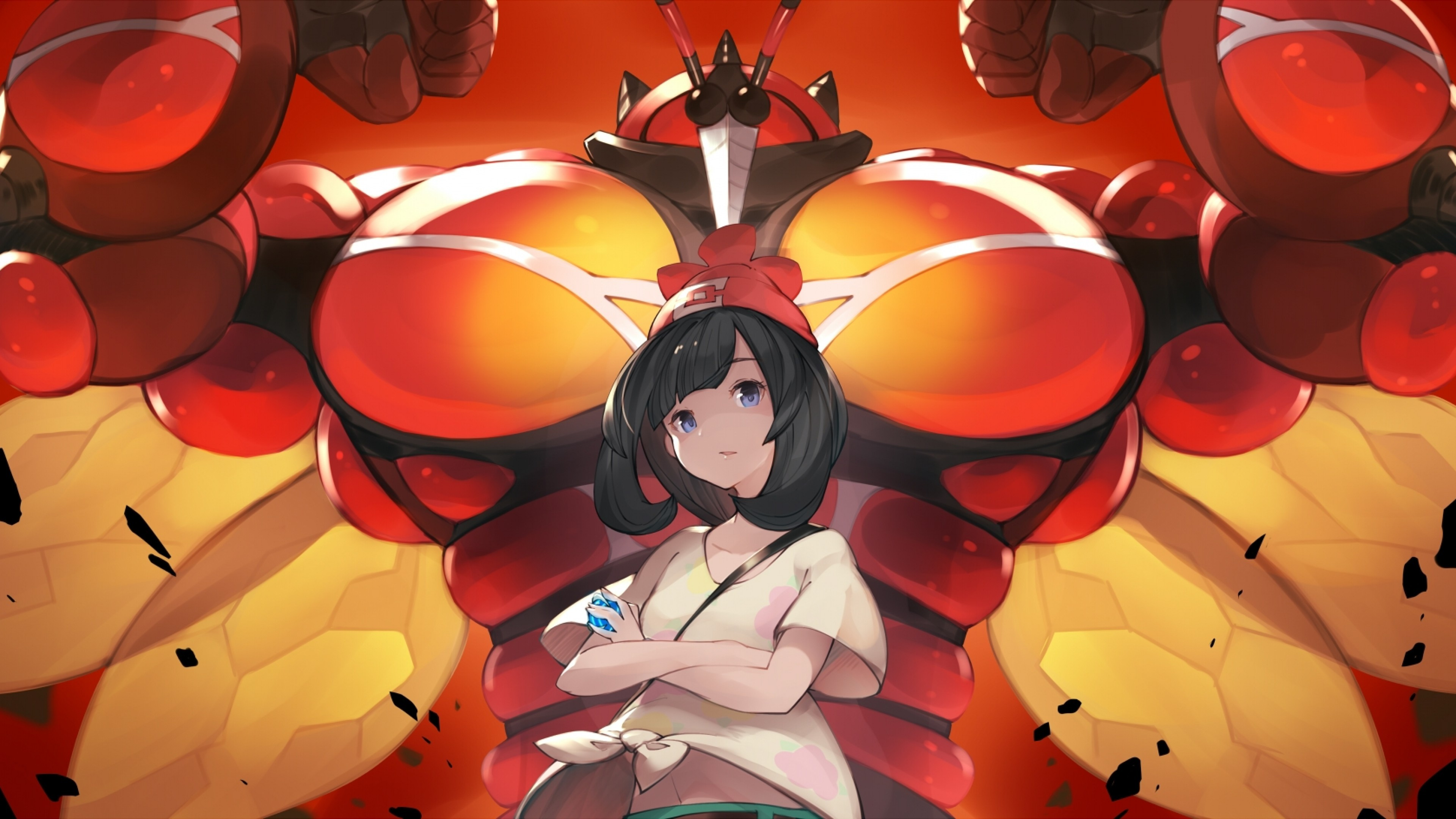 Pokemon Sun And Moon, Buzzwole, Trainer, Short Hair , HD Wallpaper & Backgrounds