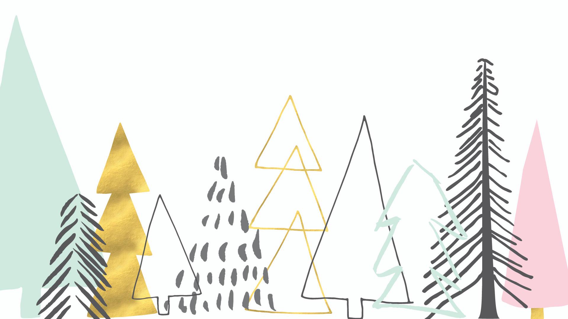 Pastel Christmas Wallpaper Desktop , HD Wallpaper & Backgrounds