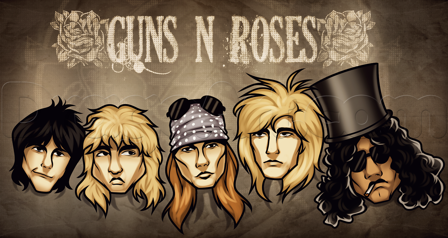 High Resolution Wallpaper Guns N Roses Axl Rose Drawing