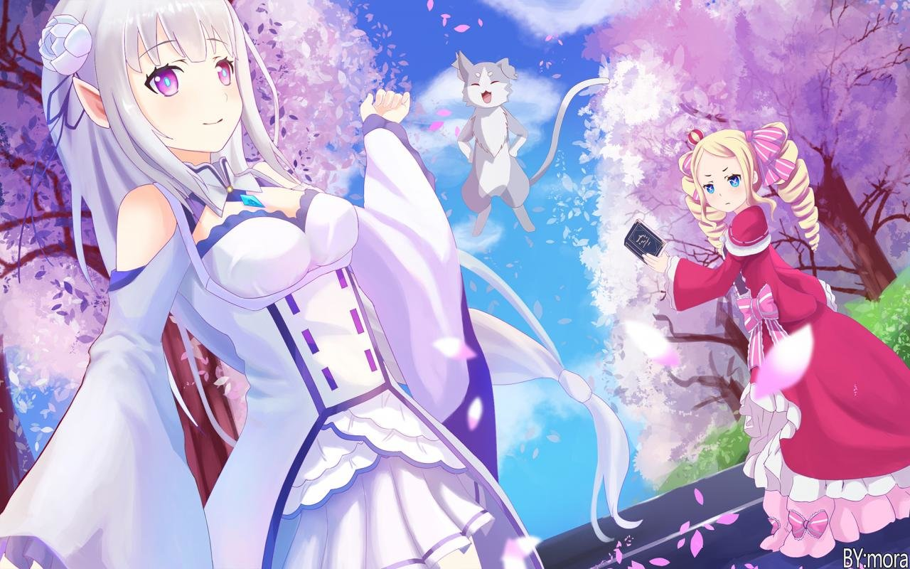 Awesome Emilia Free Wallpaper Id Re Zero Wallpaper Emilia