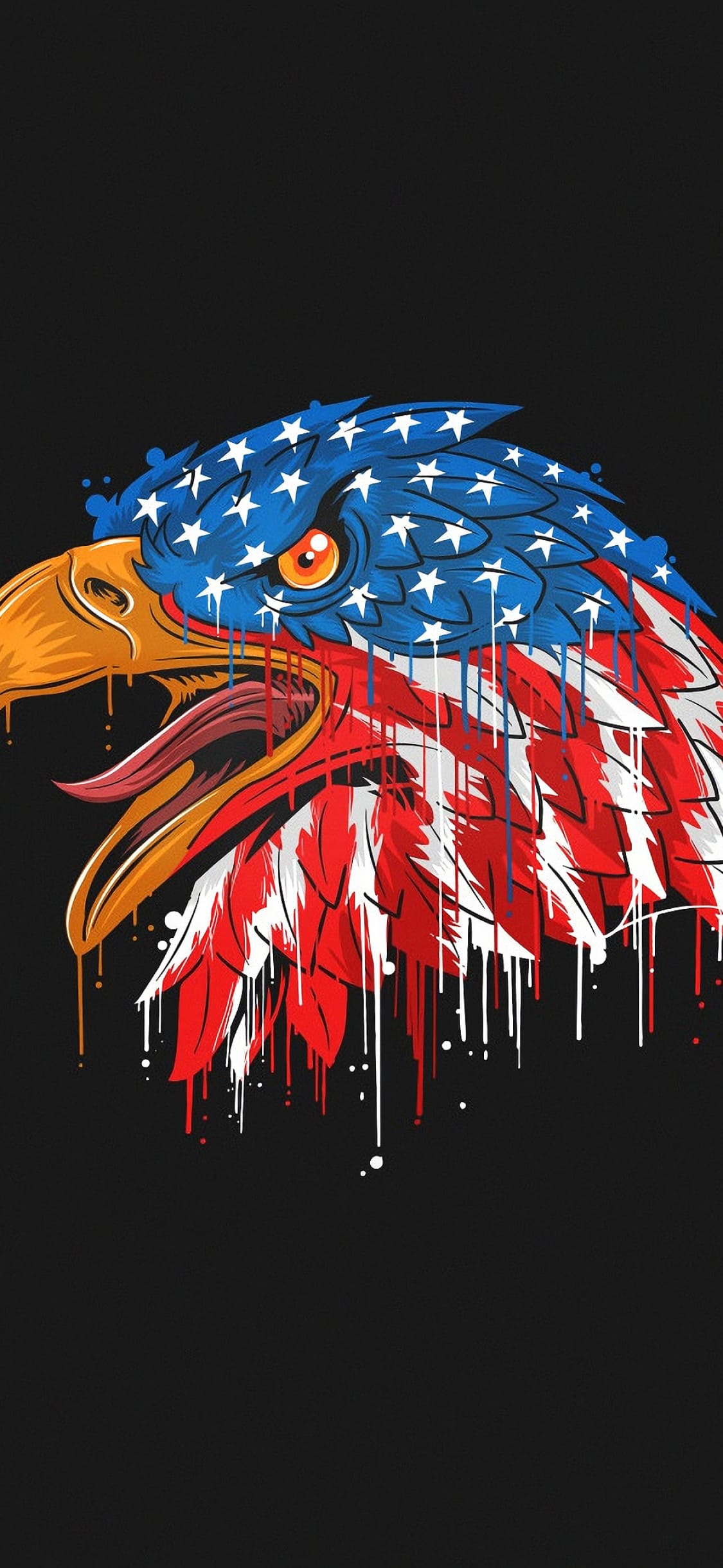 Black Wallpaper For Iphone 7s Eagle Usa Flag 2509710 Hd Wallpaper Backgrounds Download