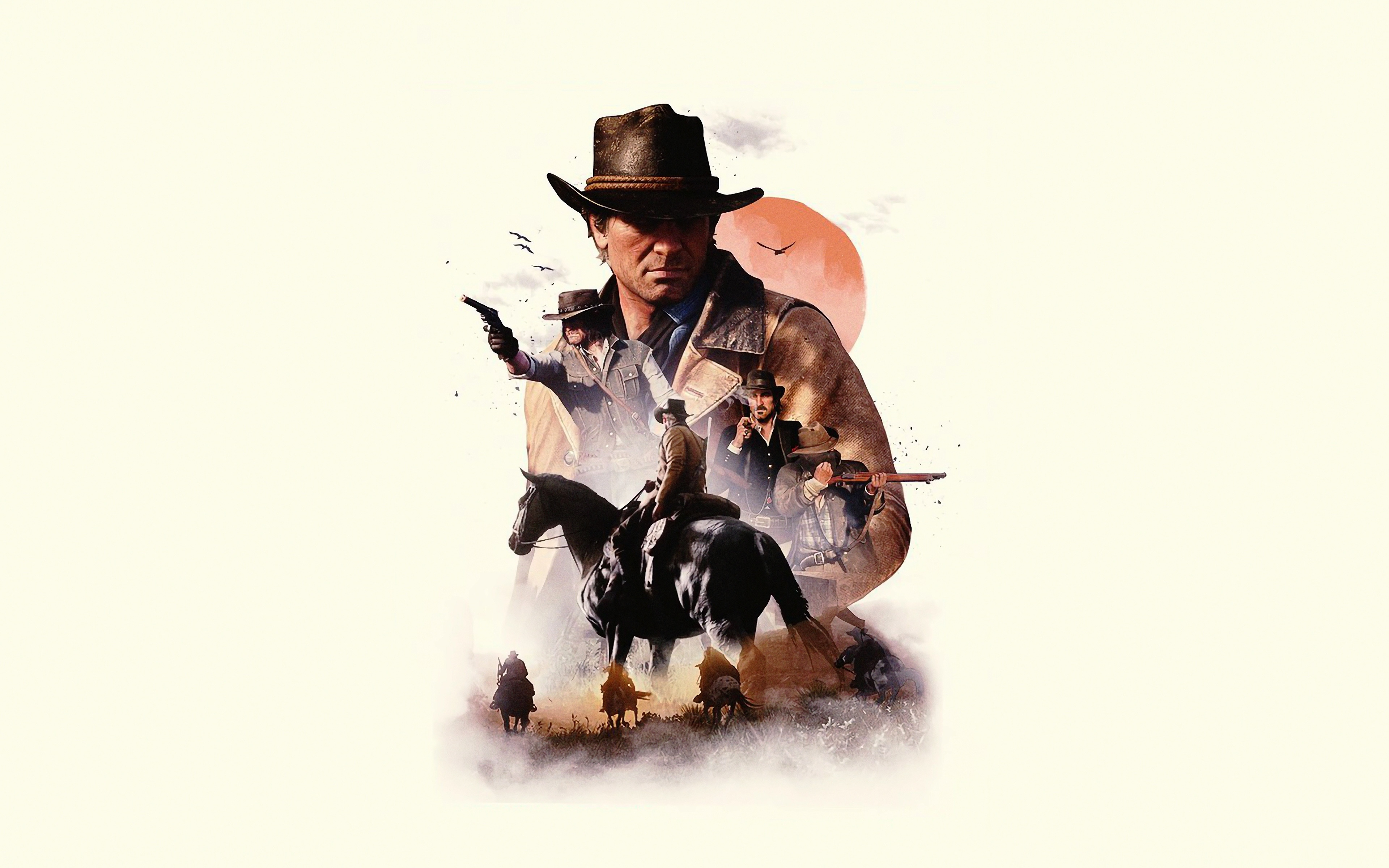 Video Game Poster Red Dead Redemption 2 Minimal Red Dead