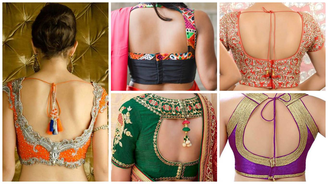 Back Saree Blouse Design Latest , HD Wallpaper & Backgrounds