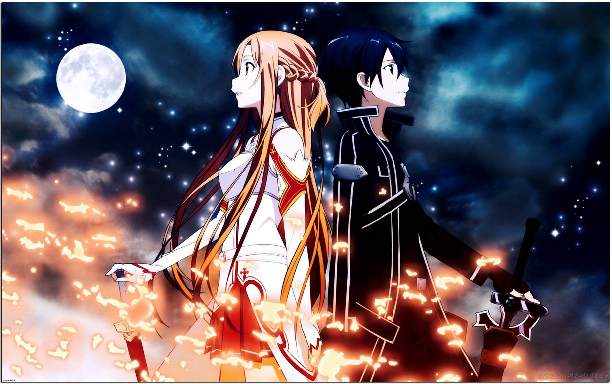 Kiritoasunakiss Hd Wallpaper Of Sword Art Online Kirito And