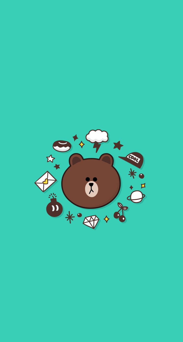 Brown Bear Wallpaper Brown Line , HD Wallpaper & Backgrounds
