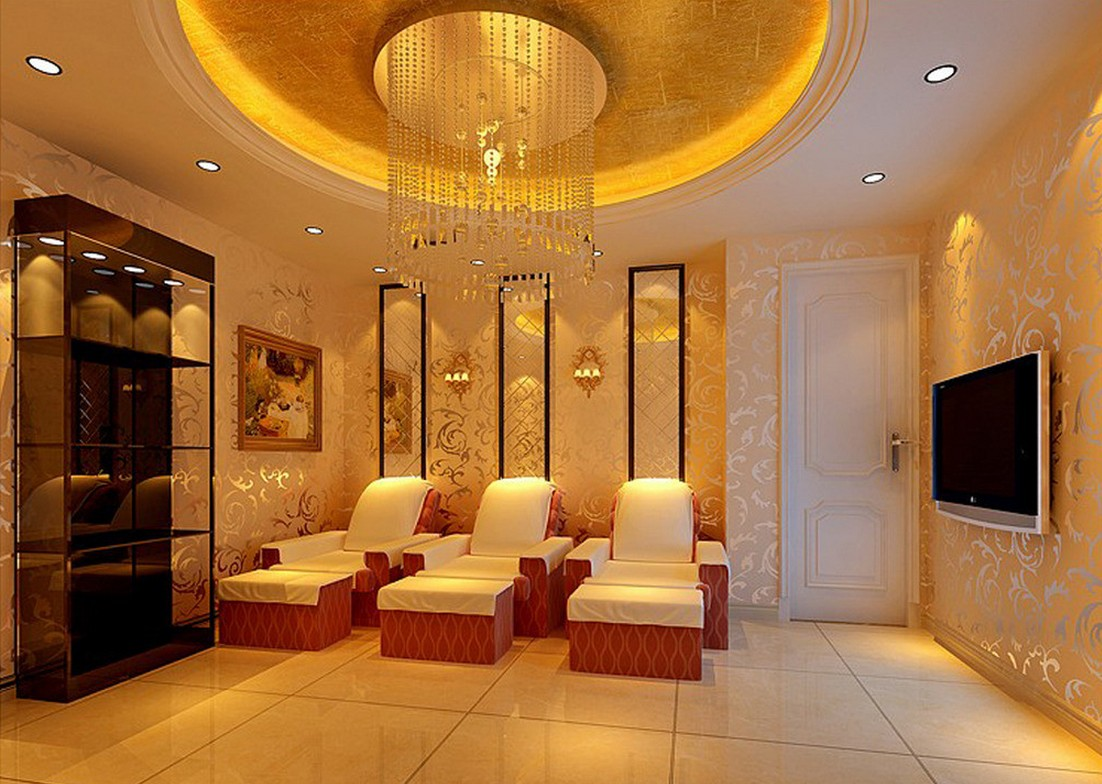 Album Wallpaper Minimalist Massage Room Flooring Design