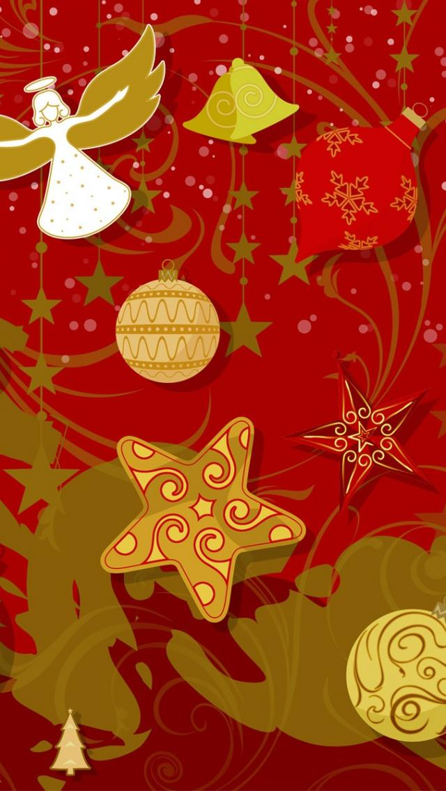 Iphone 5 Christmas Wallpaper - Gold Christmas Background High Resolution , HD Wallpaper & Backgrounds