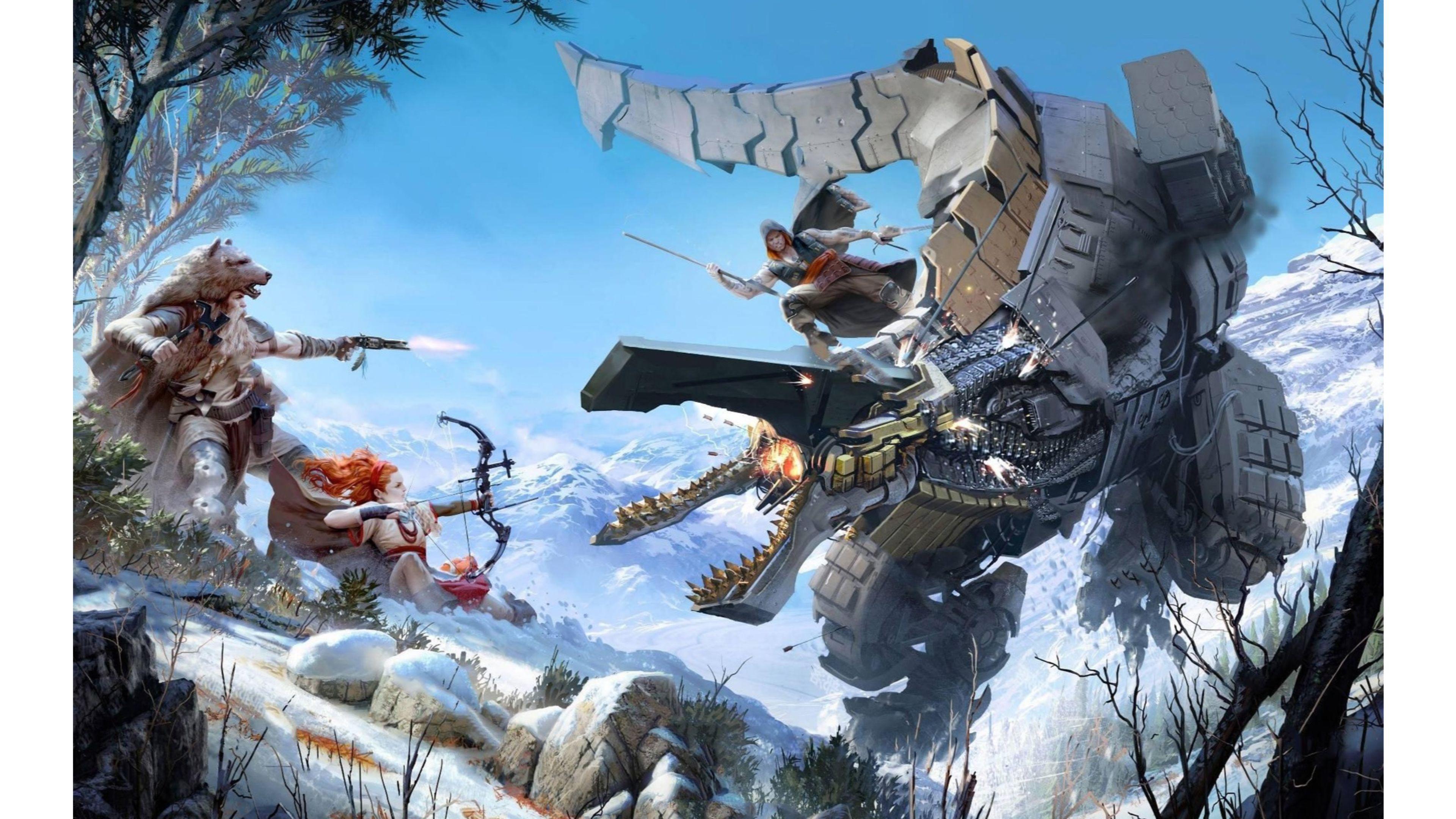 E3 Announcement 2016 Horizon Zero Dawn 4k Wallpapers - All Robots Horizon Zero Dawn , HD Wallpaper & Backgrounds